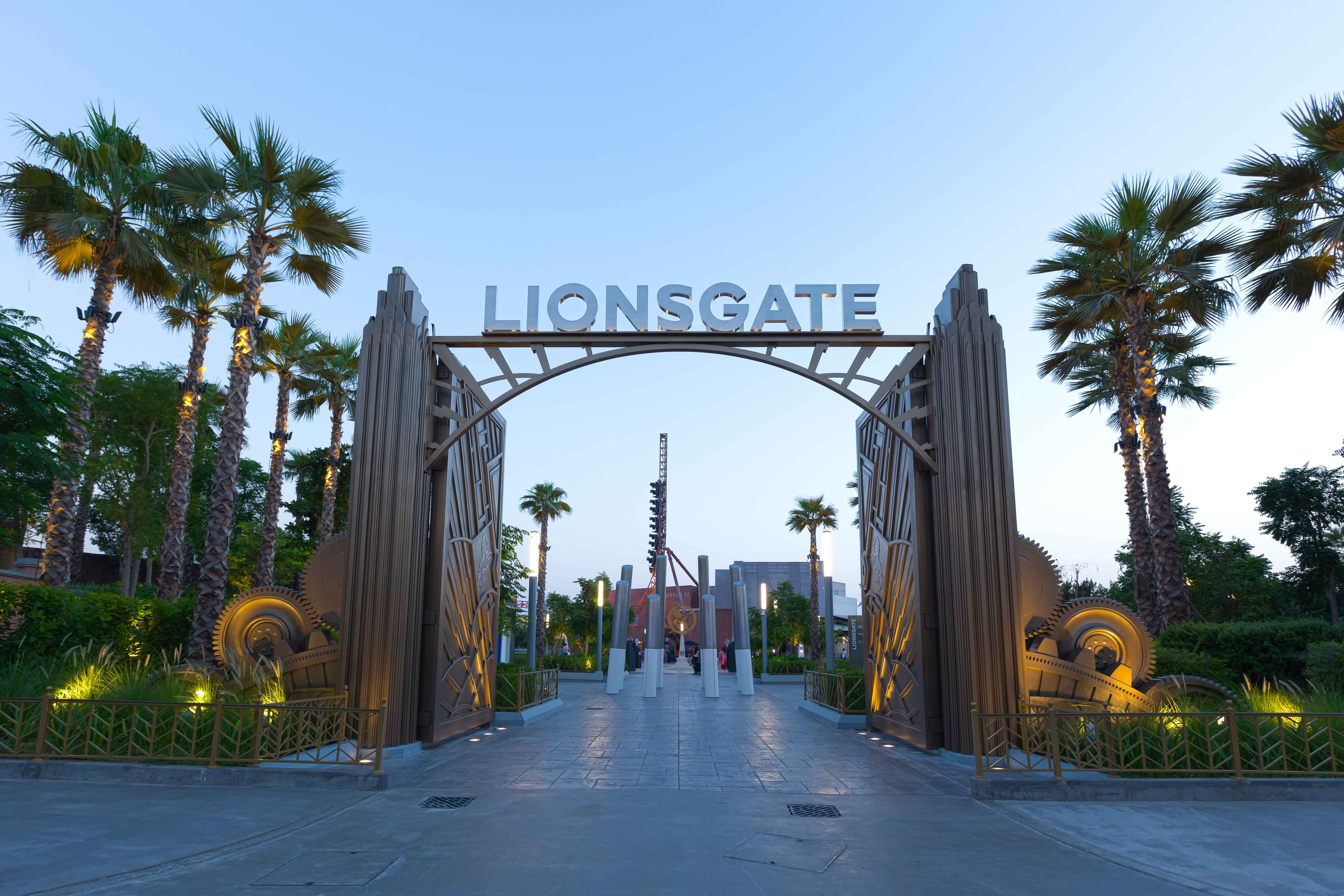 Entrance to Lionsgate's land at Motiongate Dubai.