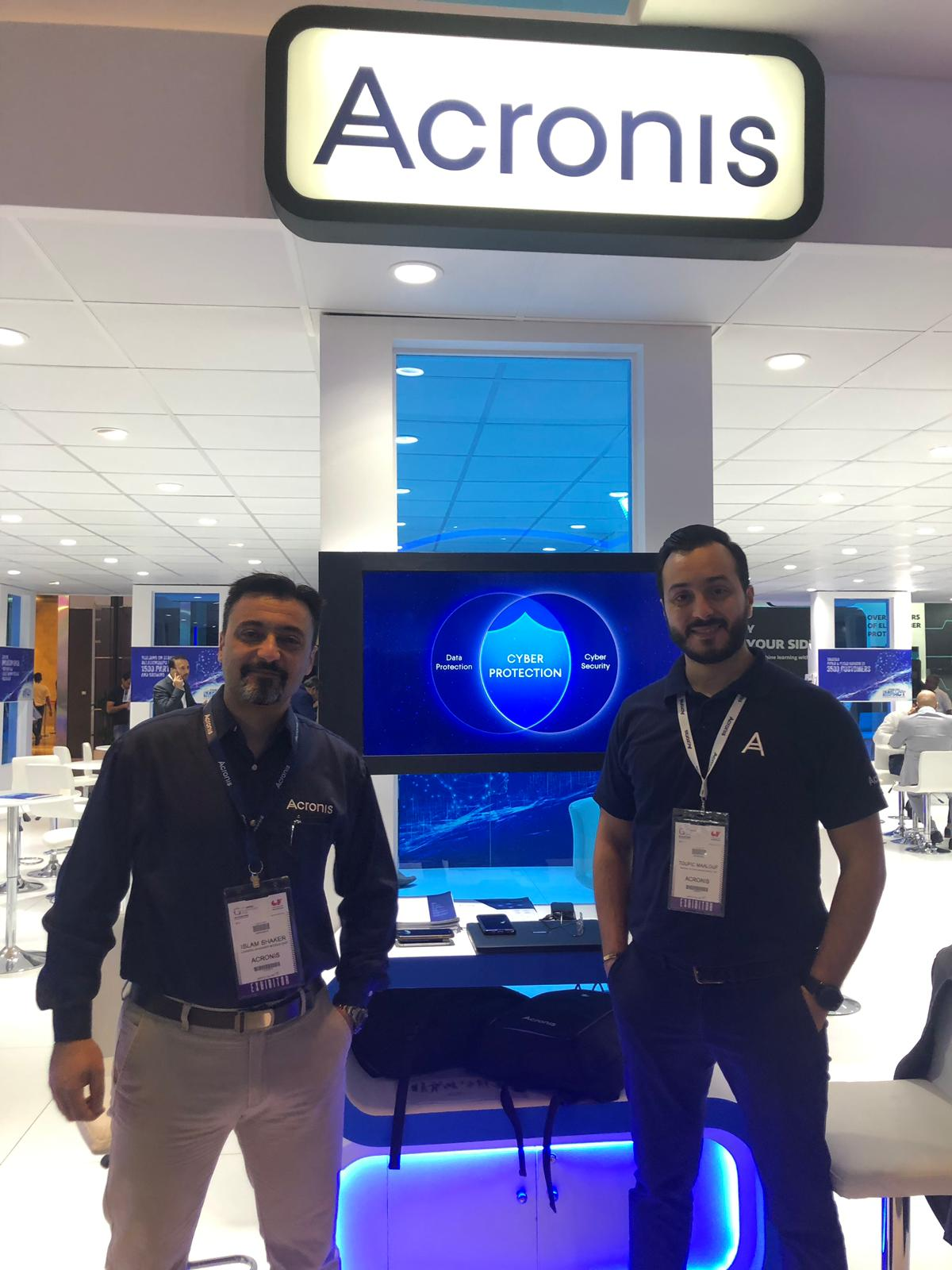 Islam Shaker and Toufic Maalouf at Acronis Stand at GITEX 2019