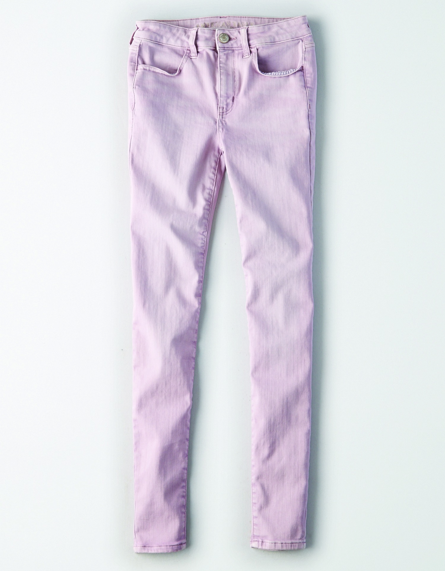 AE - W - Apparel - DENIM X HI-RISE JEGGING - Lavender Pink - No Destroy - Silver Button - Zipper Fly - No Rivets - Black Jacron in DC 12/31 *Tracked