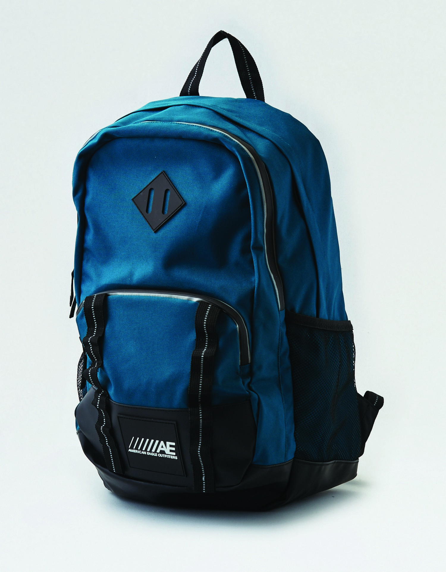 AE - M - Accessories - SPORT BAG - Teal - triple pocket - reflective taping around zipper - black rubber bottom - ////AE AL Tracked