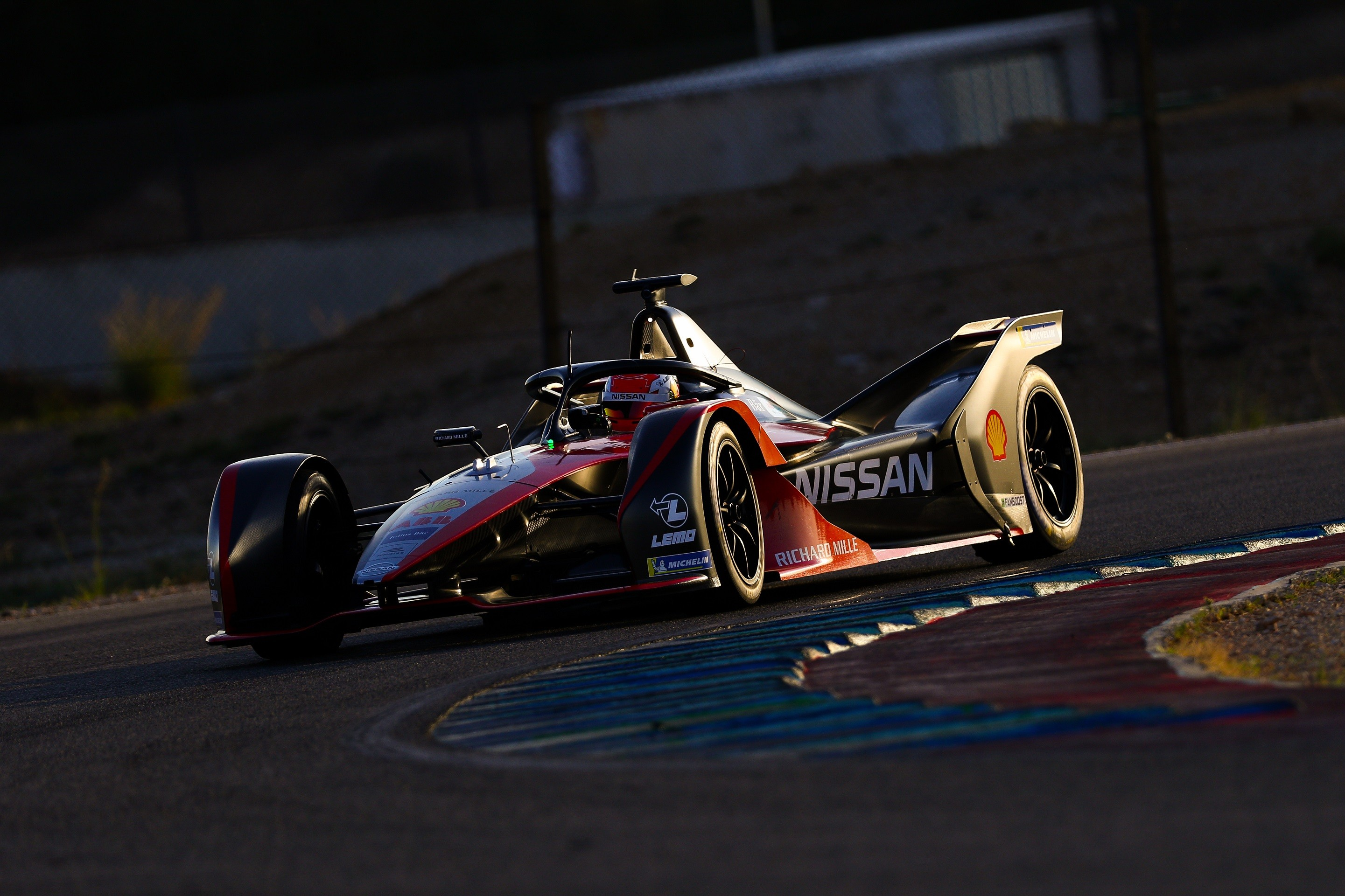 | Photographer: Shivraj Gohil| Event: Nissan Calafat test 2019| Circuit: Circuit de Calafat| Location: Barcelona| Series: FIA Formula E| Season: 2019-2020| Country: Spain || Driver: Sebastien Buemi| Team: Nissan e.dams| Number: 23| Car: IM02|